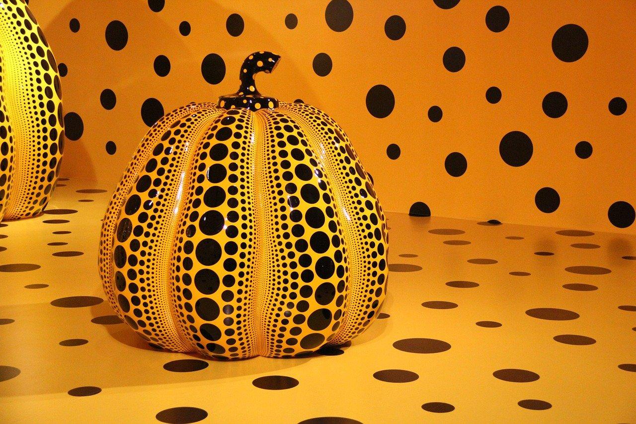 Yayoi Kusama Polka Dot Pumpkin Sculpture